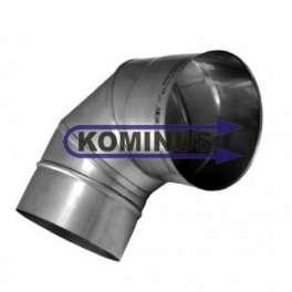 Koleno nastaviteľné 0-90 st. nerezové v pr. 100 mm v hr. 0,5 mm - Kominus