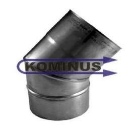 Nerezové komínové koleno 45 st. pevné Kominus v pr. 200 mm v hr. 0,5 mm