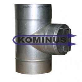Dvierkový čistiaci diel s guľatými dvierkami v pr. 140 mm v hr. 0,5 mm  - Kominus