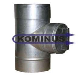 Dvierkový čistiaci diel s guľatými dvierkami v pr. 160 mm v hr. 0,5 mm - Kominus