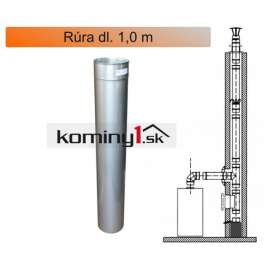 Rúra dl. 1,0 m , hrúbka 1,0 mm - komínová nerezová vložka