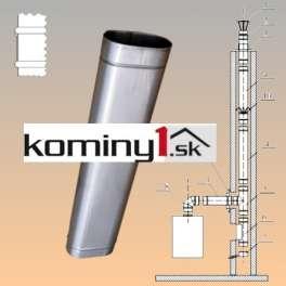 Oválna vložka 110x215 mm - rovný diel dl.1000 mm hr. 1 mm