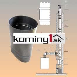 Oválna vložka 110x215 mm - redukcia ovál - kruh hr. 1 mm