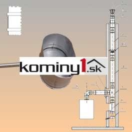 Oválna vložka 110x215 mm - jímka s odvodom kondenz. hr. 1 mm