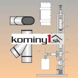 Oválna vložka 110x215 mm - odbočka 45 st hr. 1 mm