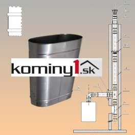 Oválna vložka 140x250 mm - rovný diel dl.250 mm hr. 1 mm